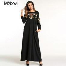 Appliques Eslamic Abbigliamento Musulmano Delle Donne Vestito Elegante Caftano  Abaya manica Lunga Veste le donne abbigliamento a. e8905183fd4