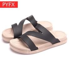 2019 summer new Korean version outdoor leisure beach flat slippers hipster must-have discount goods Womens sandals Package mail