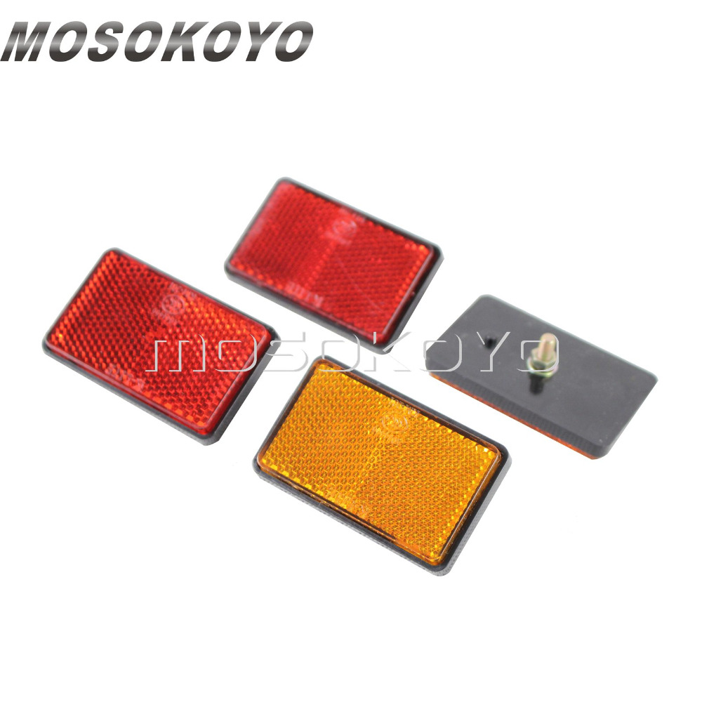 2pcs Motorcycle Truck Warning Safety Reflective Plate Reflector Bolt On for Truck Trailer ATV Scooter bande réfléchissante scooter orange pour fourche