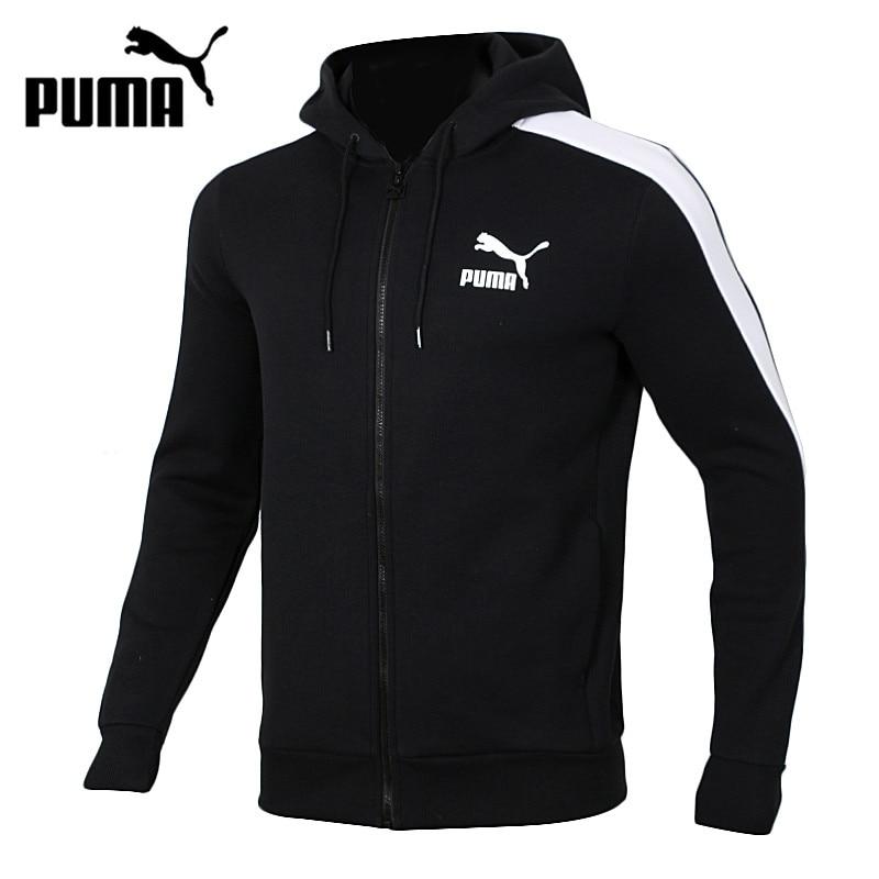 Original New Arrival PUMA T7 Men s Hooded Knitted Running Jacket