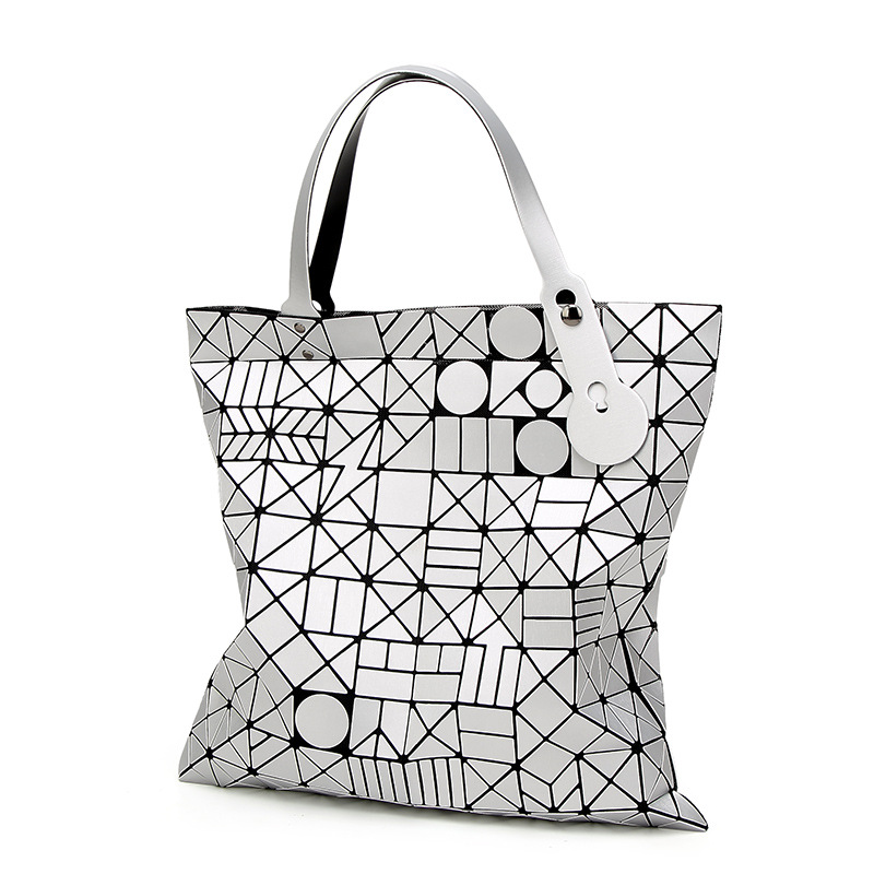 European Style Women Bag tote Big Geometric Issey Miyak Bag Luxury Brand Designer High Quality Handbag Bags 856