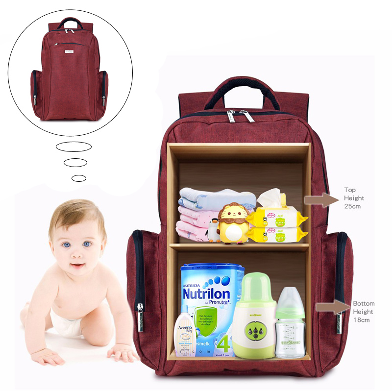 Multifunctional Baby Diaper Bag Nappy Backpack Large Capacity Mommy Bags Nappy Backpacks Bag With Changing Pad Stroller Straps