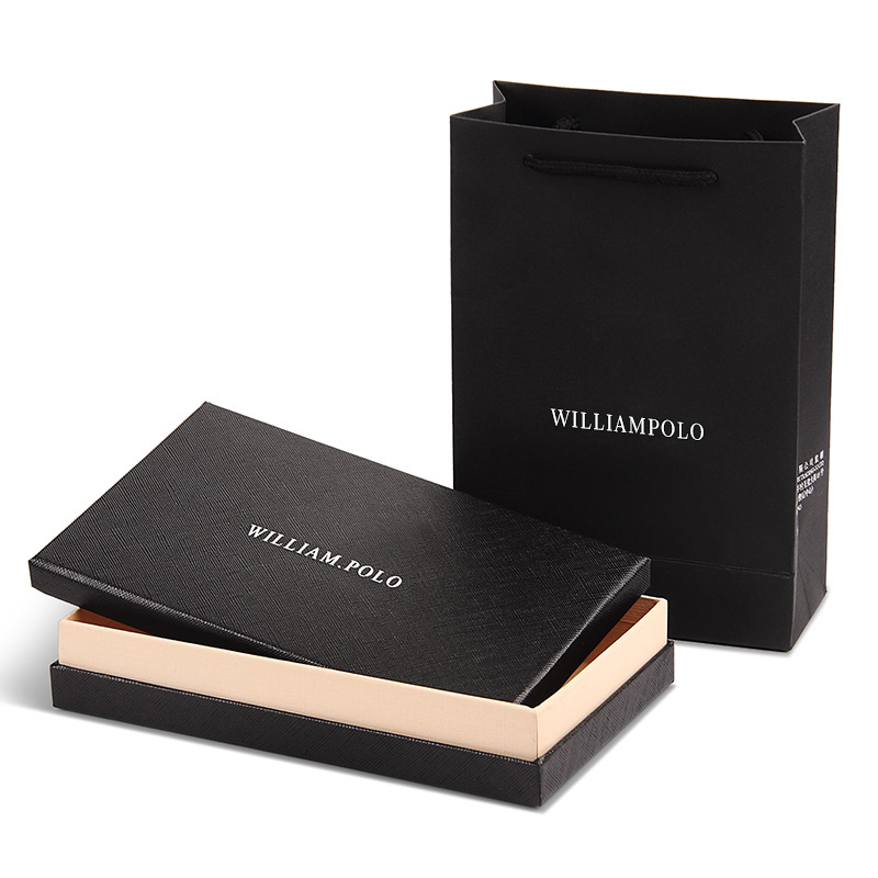 WILLIAMPOLO 2019 Fashion Leather High Quality 15 Card Wallet Men Travel Pouch Card Pocket PL185133 in Card ID Holders from Luggage Bags