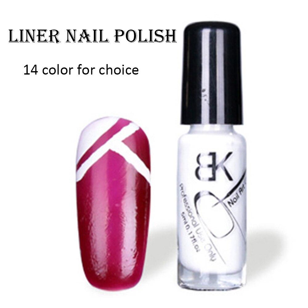 1pcs 5ml nail lacquer french manicure nail art paint liner nail ...