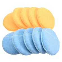 5pcs Microfiber Foam Sponge Polish Wax Applicator Pads Car Home Cleaning Pad Auto Polishing Accessories