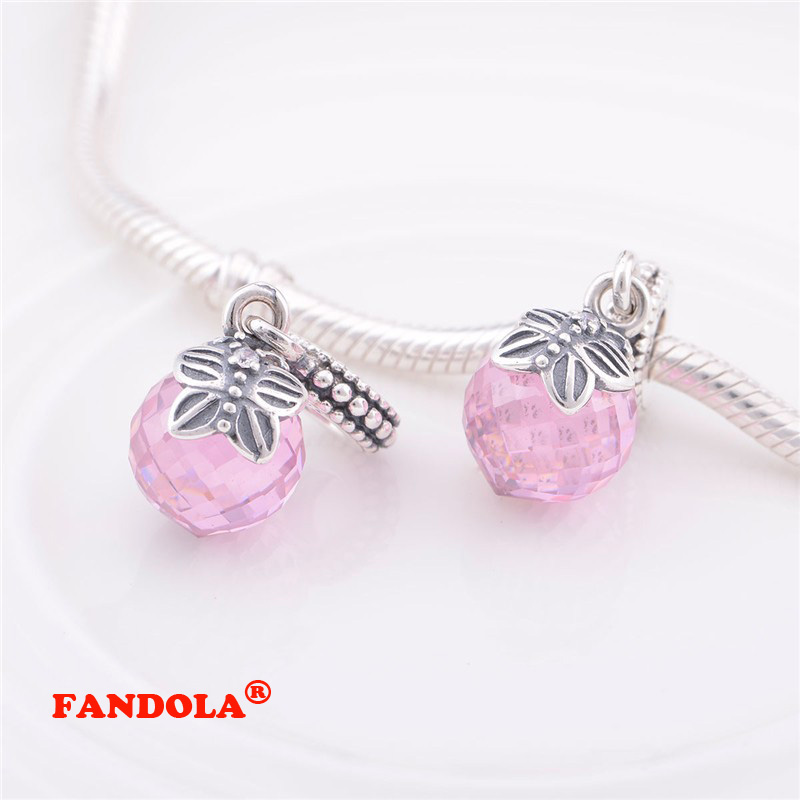 Fits for Pandora Charms Bracelets Butterfly Beads with Pink Cubic Zirconia 925 Sterling Silver Jewelry Free ShippingFits for Pandora Charms Bracelets Butterfly Beads with Pink Cubic Zirconia 925 Sterling Silver Jewelry Free Shipping
