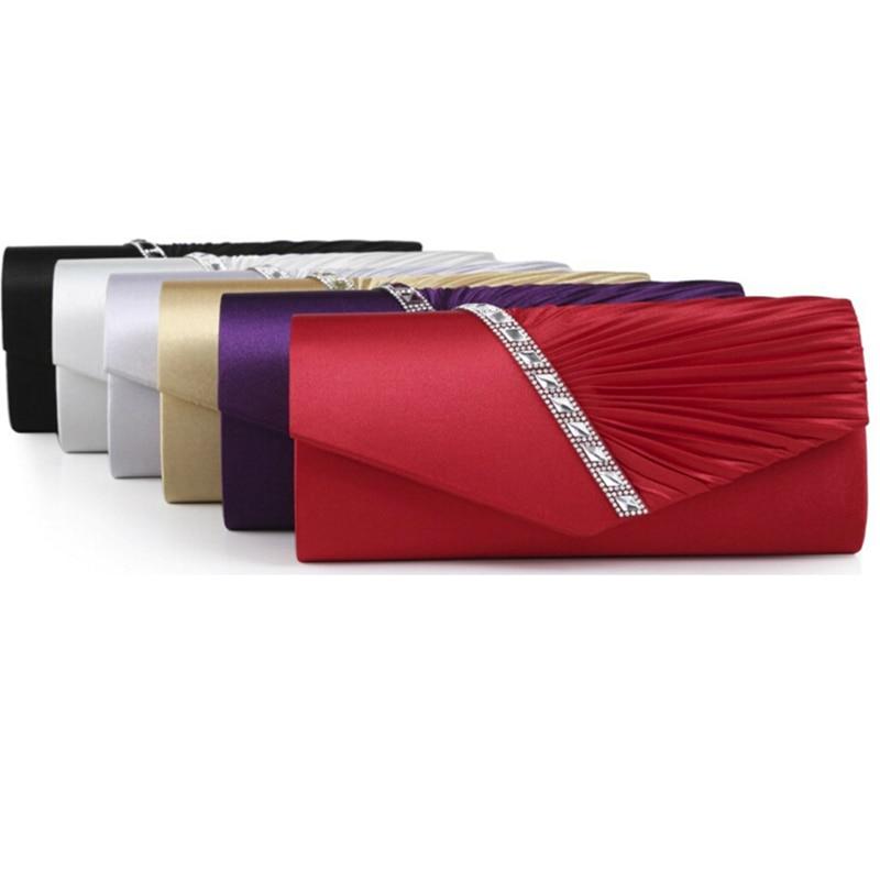 Fashion Women's Evening Bags Handbag For Elegant Women Lady New Style Satin Crystal Clutch Bolsa Feminina Evening Clutch Bags
