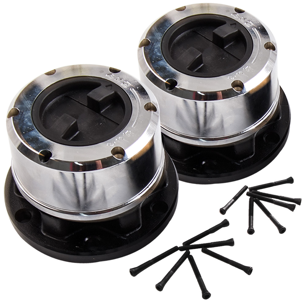 1Pair/Set Locking Hubs Pair For 92-93 Suzuki Samurai JA / JS For 89-97 Geo Tracker Left & Right, Front Locking Hub цена