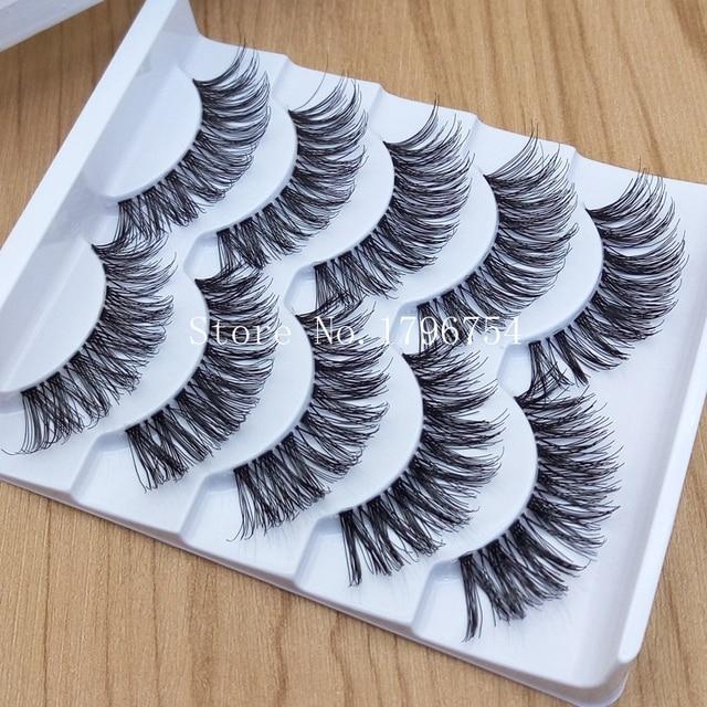 Thick False Eyelashes Messy Cross Thick Natural Fake Eye Lashes Professional Makeup Tips Bigeye Makeup Tool Long False EyeLashes 4