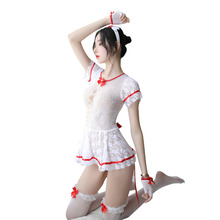 Sexy adult erotic underwear lace perspective nurse uniform temptation short skirt suit sexy cosplay doctor costume