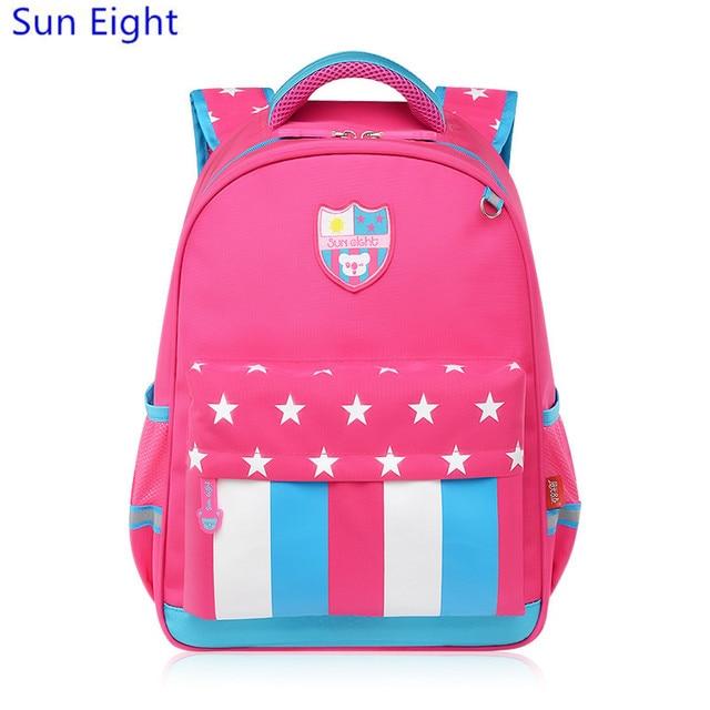 502a8e6f473af الشمس ثمانية ماركة pink ستار بنات حقائب مدرسية فتاة المدرسية أطفال مخطط  كتاب حقيبة لطيف حقيبة