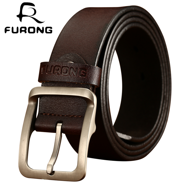 Mens Genuine Cow Hide Full Grain A Grade Leather Belt Alloy Buckle