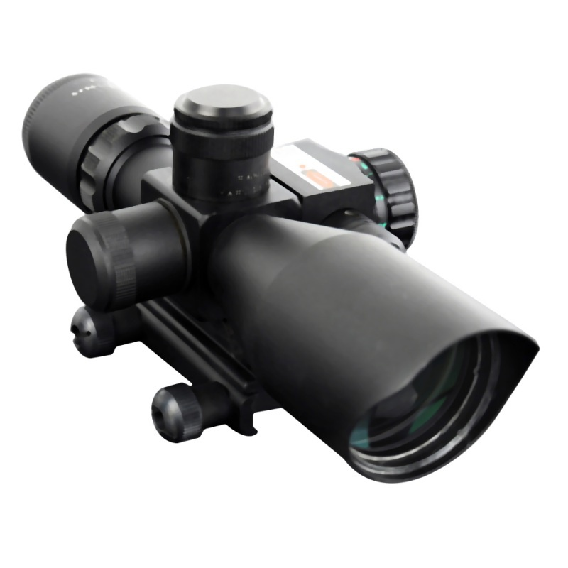 Tactical 2.5-10x40 Rifle Scope Green Red Illuminated Riflescope and Red Dot Laser Sight Hunting Scope Optical Sight Caza leapers 3 9x40 riflescope tactical optical rifle scope red green and blue dot sight illuminated retical sight for hunting scope