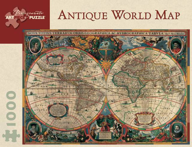 Large Vintage Map Of The World.Pomegranate Antique World Map Puzzle 1000 Vintage Map Of The World