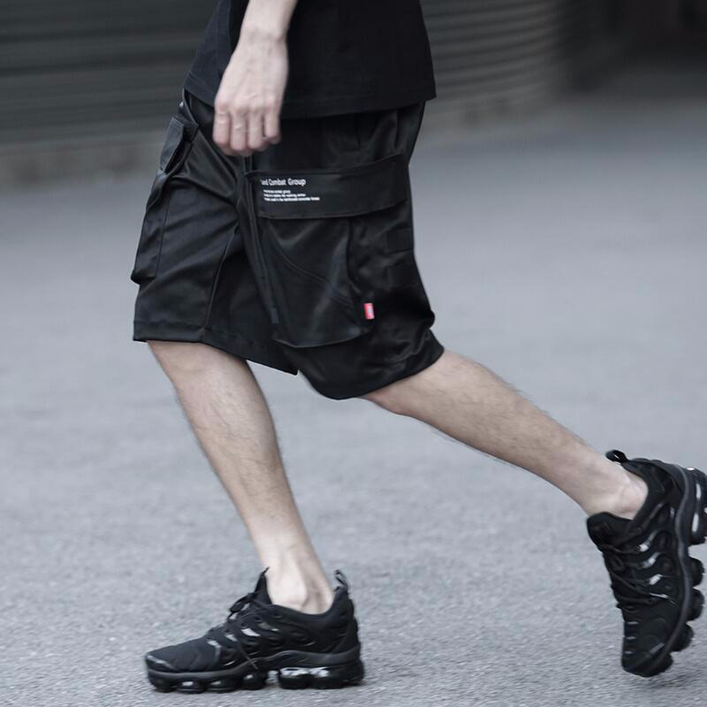2019 Men Summer Work Clothes Men Jogger Casual Male Breathable Comfortable Shorts Man Knee Length Big Pockets Black Trousers
