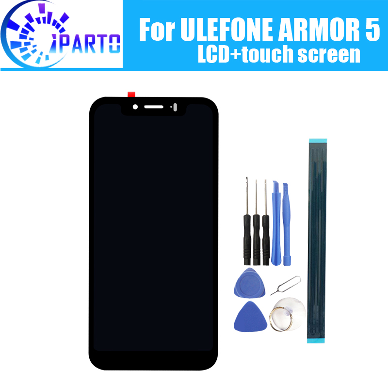 ULEFONE ARMOR 5 LCD Display+Touch Screen 100% Original Tested LCD Digitizer Glass Panel Replacement For ULEFONE ARMOR 5