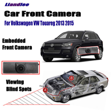 Liandlee Car Front View Camera For Volkswagen VW Touareg 2013 2015 / 4.3 LCD Screen Monitor Cigarette Lighter Switch