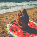 Very Cute 2016 Red Hippie Round Wall Hanging Watermelon Shaped Sandless Round Beach Throw Towel Mat L38354