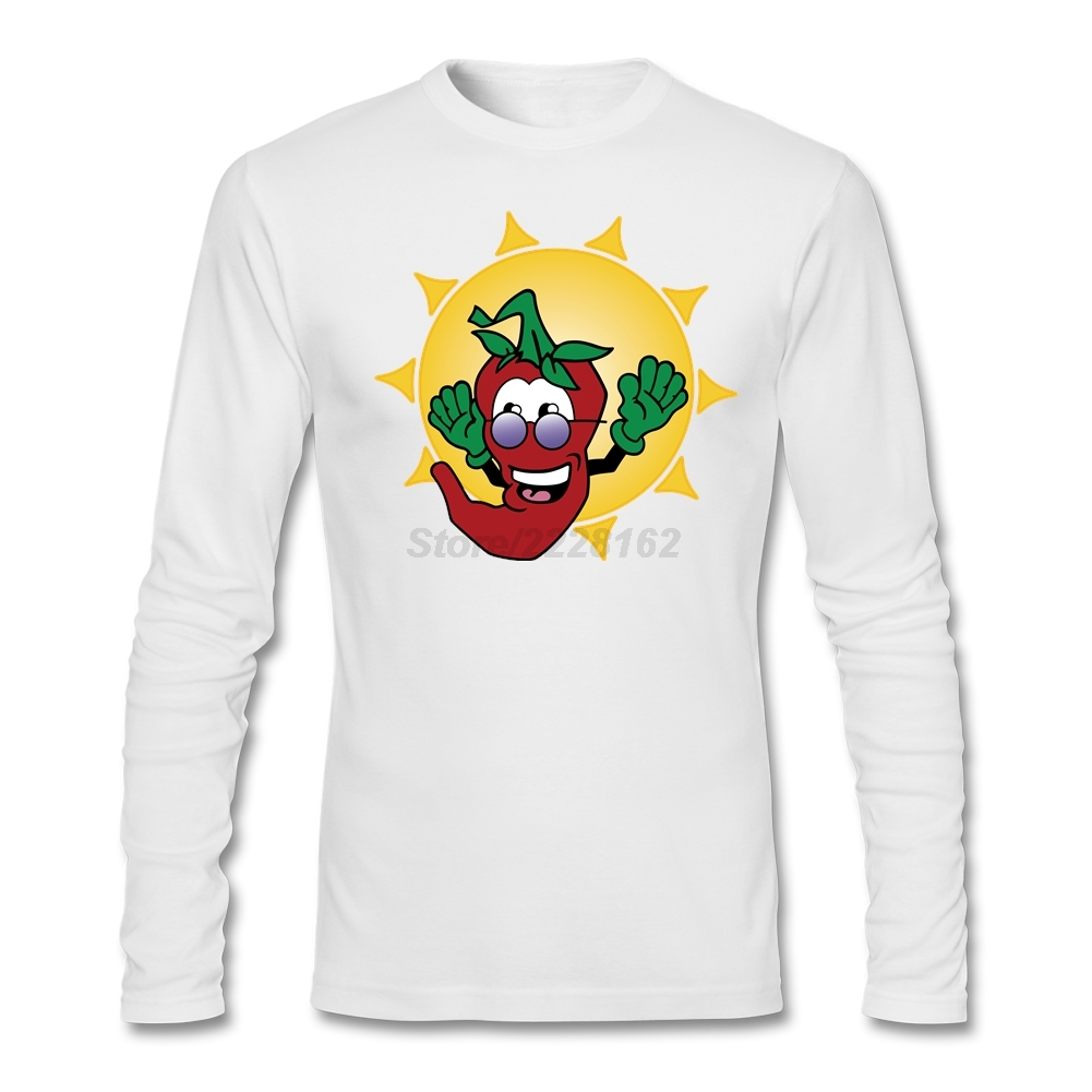 Summer Perfect Mens Funny Red Peppers Chibi T shirt For ...