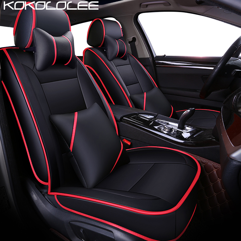 KOKOLOLEE pu leather car seat cover for Toyota All Models Corolla Camry Rav4 LANDCRUISER Auris Prius Avensis highlander car seat