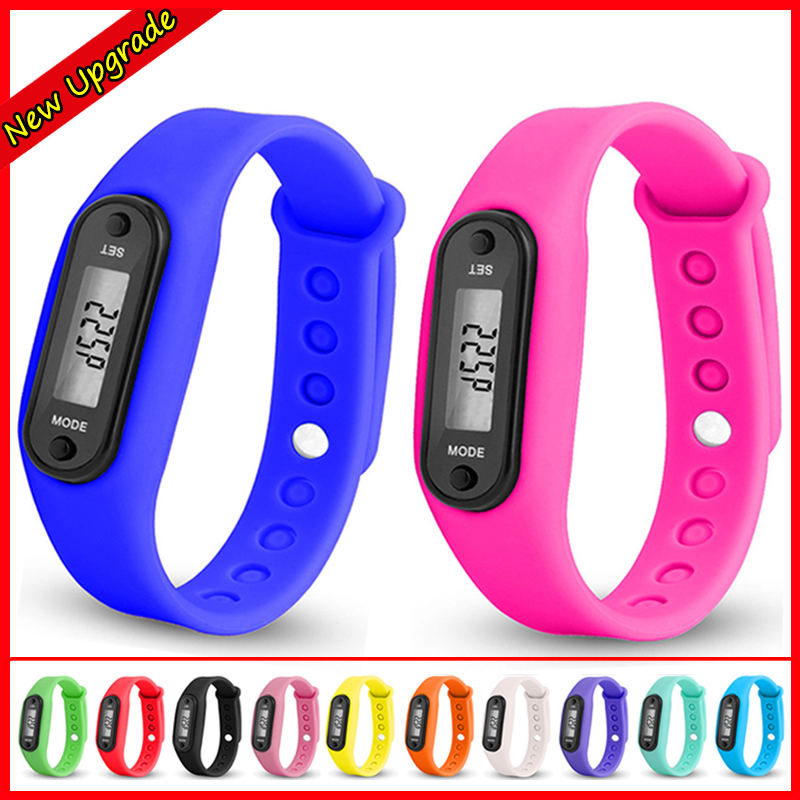 Buy Cheap New Digital Lcd Pedometer Run Step Walking Distance Calorie Counter Watch Bracelet Silicone Wristband For Children Kids Watches