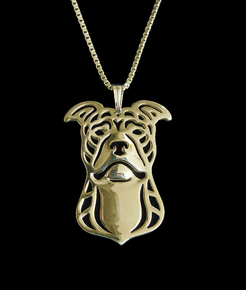Ожерелье с собакой ручной работы ожерелье американского питбулера
