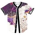 МОДА мужские рубашки Музыка для Galaxy Майка overshirt 3d Уличная забавный топы с Однобортный бейсбол рубашки