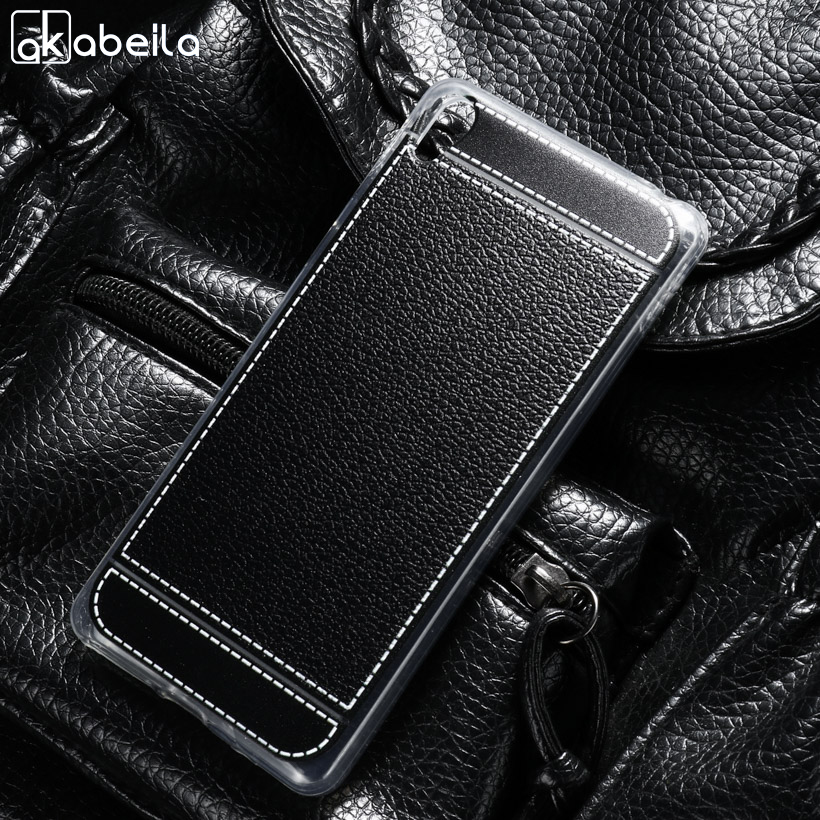 Galleria fotografica AKABEIL Phone Cover Cases For <font><b>Sony</b></font> Xperia E5 F3311 F3313 5.0 inch Covers Soft TPU Litchi Phone Bags Back Shell Skin Housing