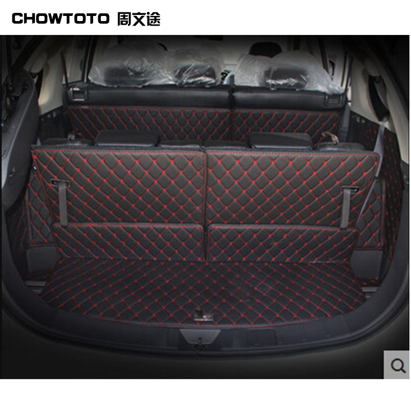 CHOWTOTO AA Custom Trunk Mats For Mitsubishi Outlander 7seats Durable Waterproof Carpets For Outlander 7 Seats Lagguge Pad