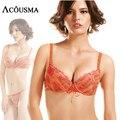 Элегантной вышивкой женщины намекает бюстгальтеры, сексуальный толчок вверх регулируемая бюстгальтер и conjunto белье женское нижнее белье BS237
