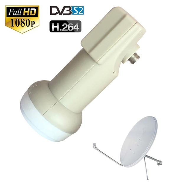 Dvb s2 منخفضة الضوضاء 0.1 ديسيبل مقاوم للماء أفضل إشارة العالمي كو الفرقة واحدة LNB الأقمار الصناعية طبق هوائي ل sks HD الرقمية HDTV صندوق