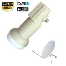 Dvb s2 antena satélite impermeable de poco ruido, 0,1 dB, la mejor señal Universal KU LNB de banda sencilla, para sks HD, caja digital HDTV