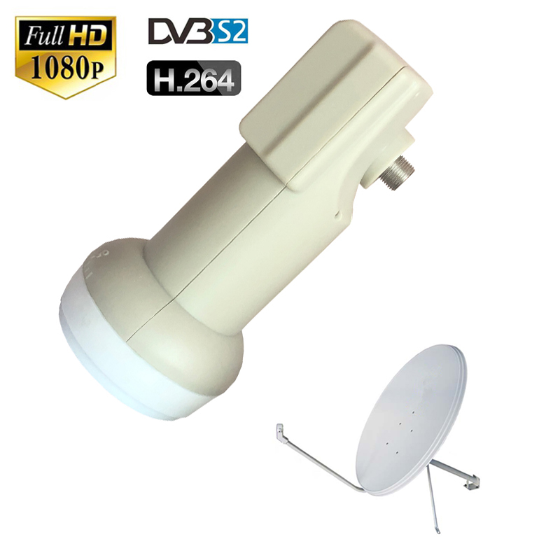 Dvb-s2 Low Noise 0.1 DB Waterproof Best Signal Universal KU Band Single LNB Satellite Dish Antenna For HD Digital HDTV Box