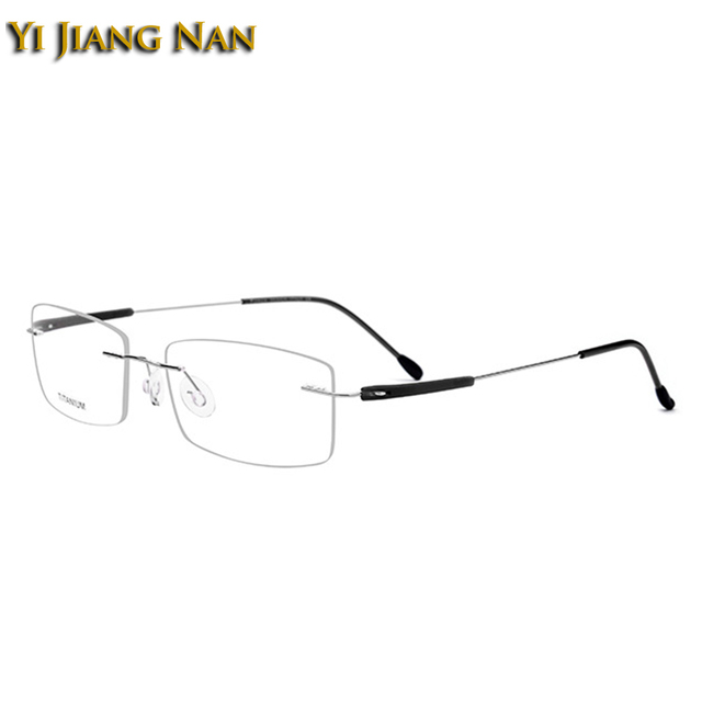 e4848a28cc Yi Jiang Nan Brand Women and Men Fashion Rimless Titanium Light Eyewear  Super Quality Frameless Spectacles Frame