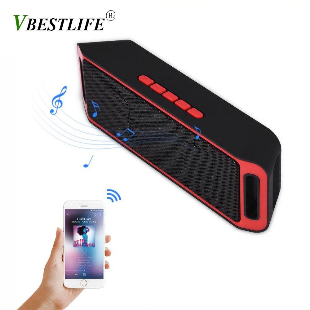 VBESTLIFE portable Bluetooth <font><b>Speaker</b></font> Stereo Bass Subwoofer Support TF Card USB AUX <font><b>speakers</b></font> soundbar for xiaomi <font><b>smart</b></font> <font><b>phone</b></font>