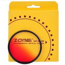 ZOMEI 40.5/49/52/55/58/62/67/72/77/82mm Slim Graduated filter nd Camera Filtro Gradual Blue Orange Red Grey for Sony Canon Nikon