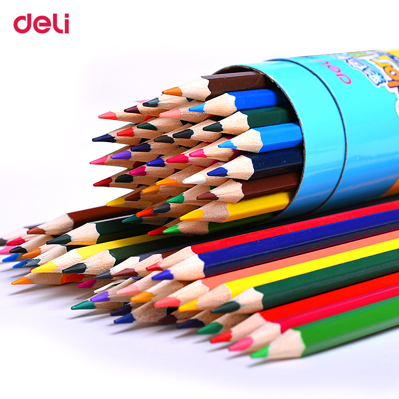 Deli peinture crayon de couleur 12/18 couleurs Dessin de haute qualité peinture couleurs crayon artiste fournitures croquis crayon de couleur