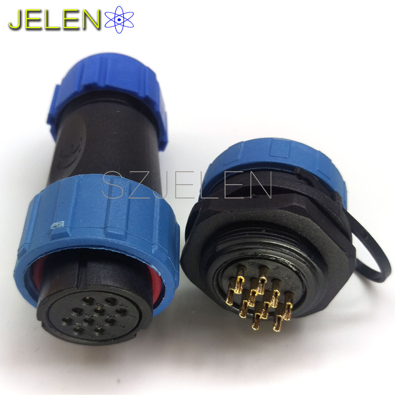 SP2110/S, waterproof connector 10 pin,IP68,Flip the connector plug and socket 10pin,Board-to-wire power connector installationSP2110/S, waterproof connector 10 pin,IP68,Flip the connector plug and socket 10pin,Board-to-wire power connector installation