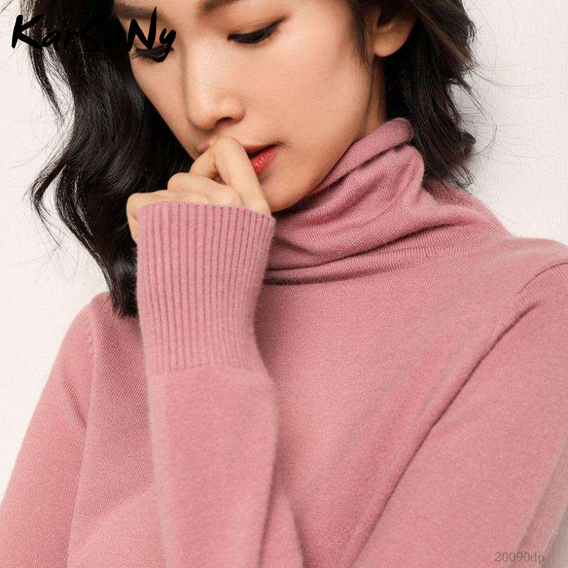 White Turtleneck Cashmere Women's Sweater Wool Pullover Women Turtleneck Sweaters Female Winter Woman Sweater Knitting Pullovers