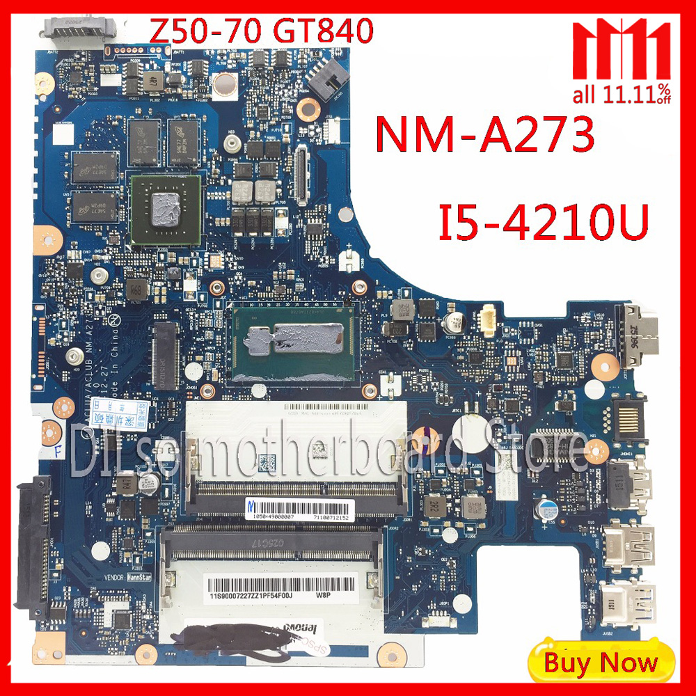 KEFU G50-70M For Lenovo G50-70 Z50-70 i5 motherboard ACLUA/ACLUB NM-A273 Rev1.0 with GT820M/GT840M graphics card Test kefu g50 70 for lenovo g50 70 z50 70 i5 motherboard aclu1 aclu2 nm a271 rev1 0 with graphics card test