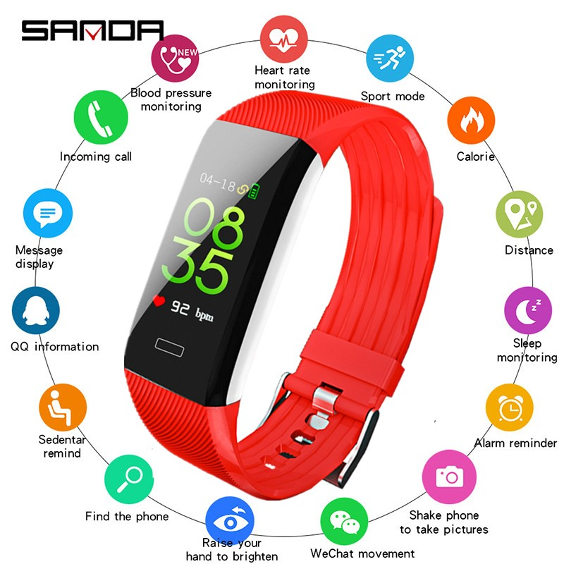 SANDA Bluetooth Smart Watch Women New Sport Watch Men Heart Rate Monitor Fitness Tracker Smartwatch IP67 Waterproof ios androidSANDA Bluetooth Smart Watch Women New Sport Watch Men Heart Rate Monitor Fitness Tracker Smartwatch IP67 Waterproof ios android