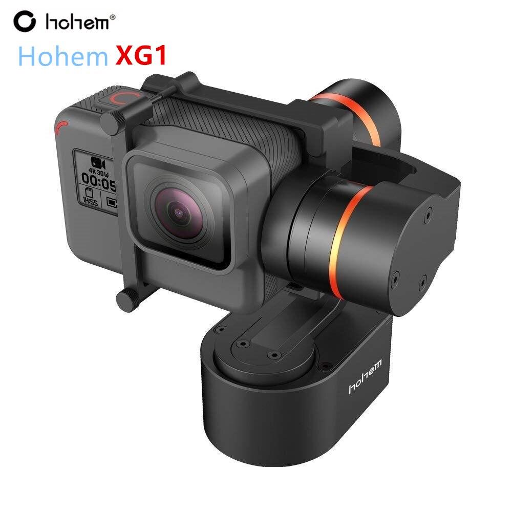 Hohem XG1 3-Axe Cardan pour GoPro Hero 7/6/5/4/3 Portable Stabilisateur vélo Vélo/Casque/De Voiture De Montage Gimble pour caméra d'action