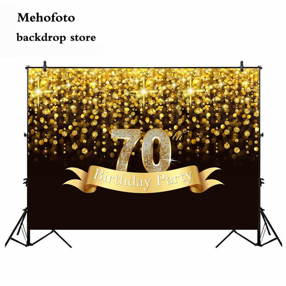 Neoback задний план для фотографии 70th День Рождения вечерние украшения баннер боке блеск фото фон студия Портрет фон