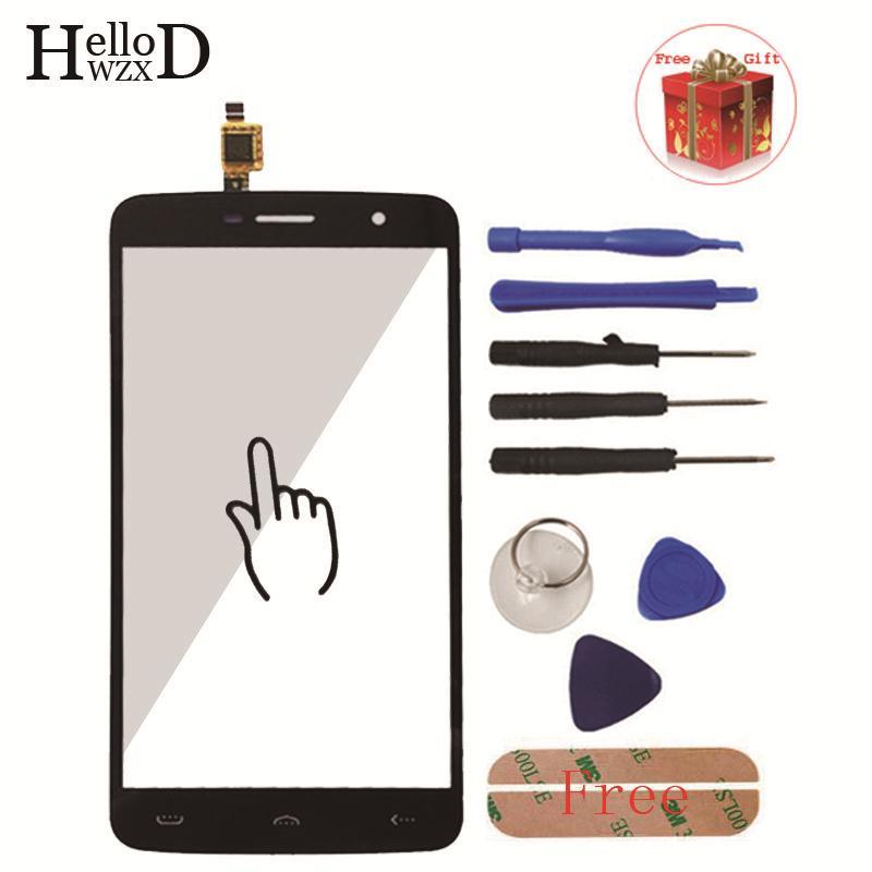 5,5 zoll Frontglas Für HOMTOM HT17 HT 17 Touchscreen Glas Touchscreen Digitizer Verkleidungs-objektiv Sensor Werkzeuge + Adhesive geschenk