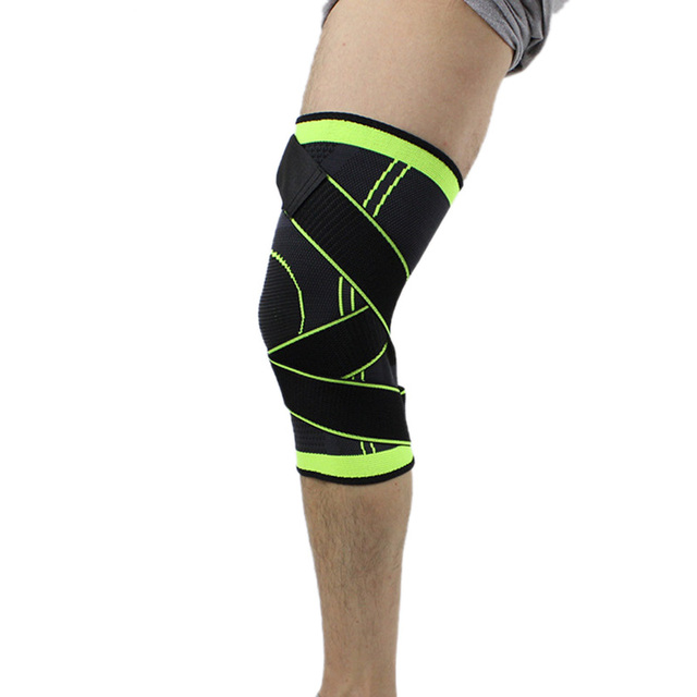 4XL basketball tennis hiking cycling knee brace support 3D weaving Pressurized Straps bandage Sports knee pads Patella Guard 1pc 3