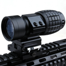 Tactical 3X Magnifier Rifle Scope QD mounts Flip To Side Quick release 20mm rail Fit For 551/552 Red Dot Sight for Hunting