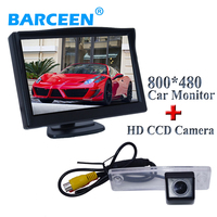 car rear reversing camera 170 anlge +5 lcd hd screen car display monitor 800*480 resolution adapt for Toyota fourtoner