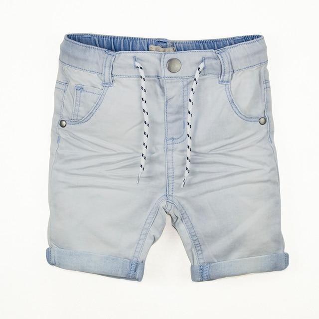 d0bae3bac Toddler Boy Denim Shorts Summer Baby Kids Light Color Short Pants Curling  Jeans Elastic Waist Pockets Children Clothing 2T-6T