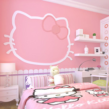 Girl Pink non-woven wallpaper solid color warm princess childrens room beauty salon girls bedroom dormitory baby