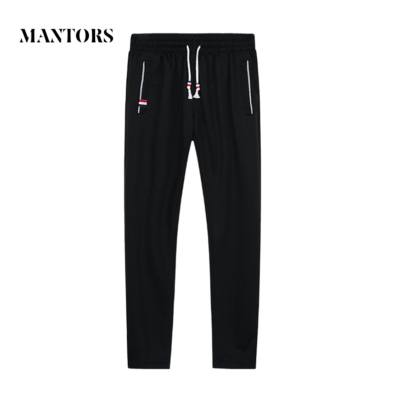 2018 Autumn New Men Cotton Sweatpants Fitness Solid Joggers Trousers Male Casual Pants Sportswear Elastic Sweat Trousers Runners